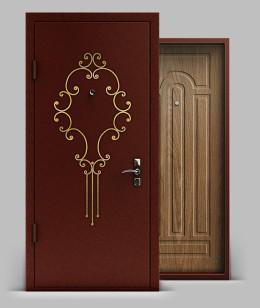 Входная металлическая дверь серии А1 металл/МДФ с коваными элементами