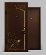 Входная металлическая дверь серии А2  с коваными элементами