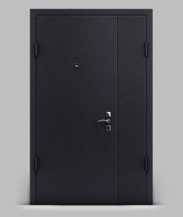 Двустворчатая входная металлическая дверь серии А2 металл/металл