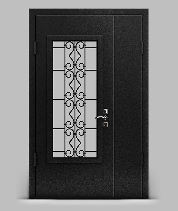 дверь металлическая двустворчатая банк