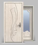 Входная металлическая дверь серии А3 МДФ/МДФ с зеркалом
