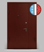Входная металлическая двустворчатая дверь серии А2 металл/металл «Термо»
