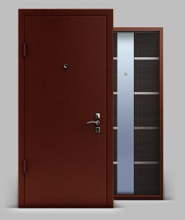 Входная металлическая дверь серии «Конструктор» А1 МДФ с зеркалом Техно