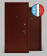 Входная металлическая дверь серии А2 металл/металл «Тепло Light»